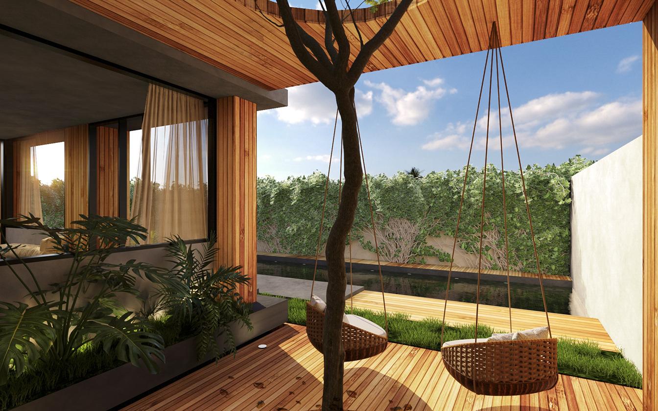 Cubica es una residencia pensada para ofrecer en renta por medio de varias plataformas en linea dedicadas a la oferta de alojamientos a particulares.